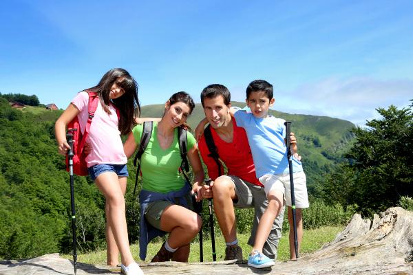 Randonnée à la montagne en été