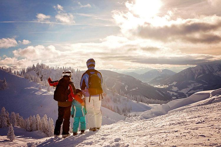 famille-au-ski