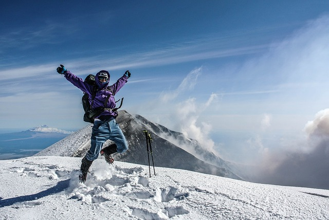 saut sommet montagne